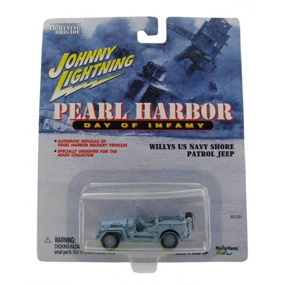 Johnny Lightning - Pearl Harbor - Willys US Navy Shore - Patrol Jeep  - Hobby Lobby CollectorStore