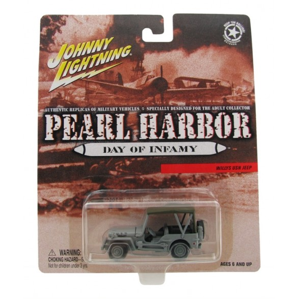 Johnny Lightning - Pearl Harbor - Willys USN Jeep - Hobby Lobby CollectorStore