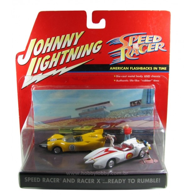 Johnny Lightning - Speed Racer and Race X ...Read to rumble - Diorama