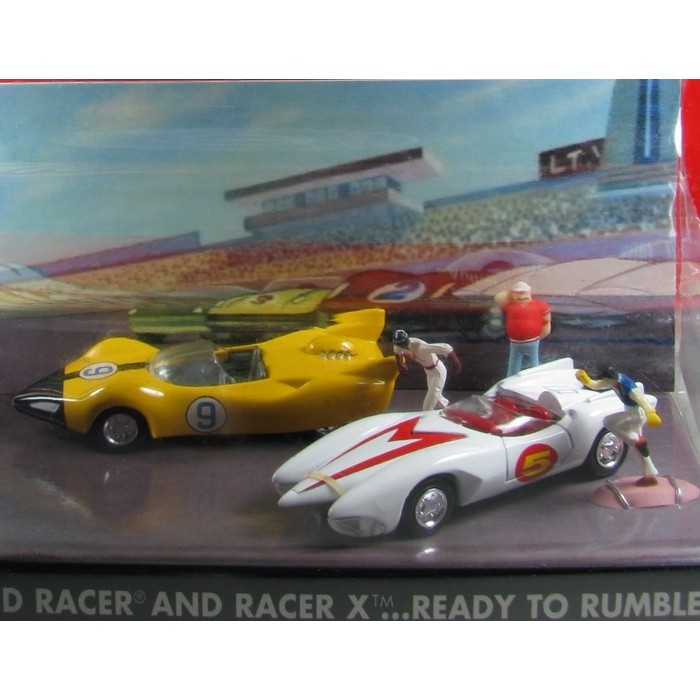 Johnny Lightning - Speed Racer and Race X ...Read to rumble - Diorama  - Hobby Lobby CollectorStore