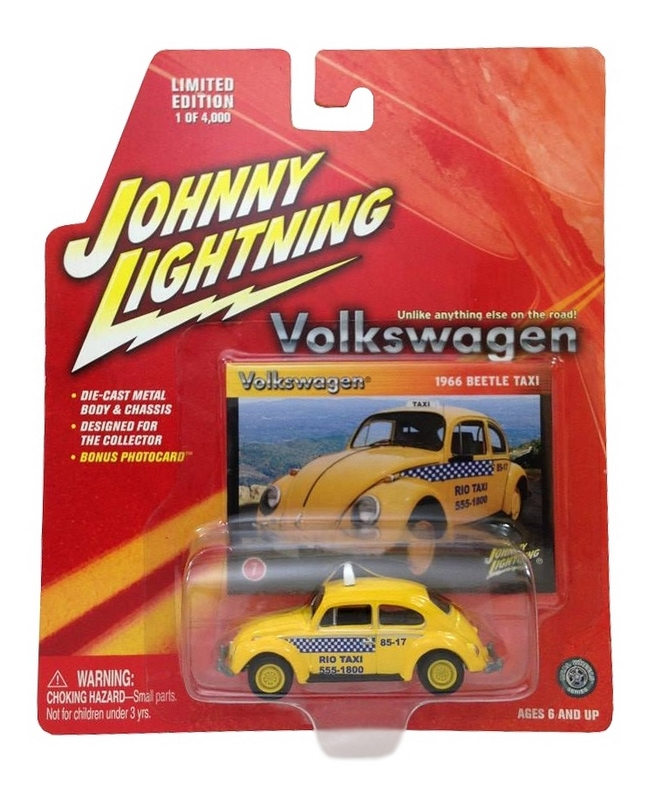 Johnny Lightning - Volkswagen - 1966 Beetle Taxi (Rio de Janeiro)  - Hobby Lobby CollectorStore