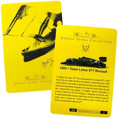Kyosho - Coleção Ayrton Senna  - 1985 - Team Lotus 97T Renault  - Hobby Lobby CollectorStore