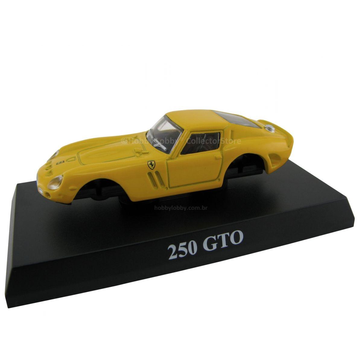Kyosho - Ferrari Minicar Collection II - Ferrari 250 GTO (amarela)  - Hobby Lobby CollectorStore