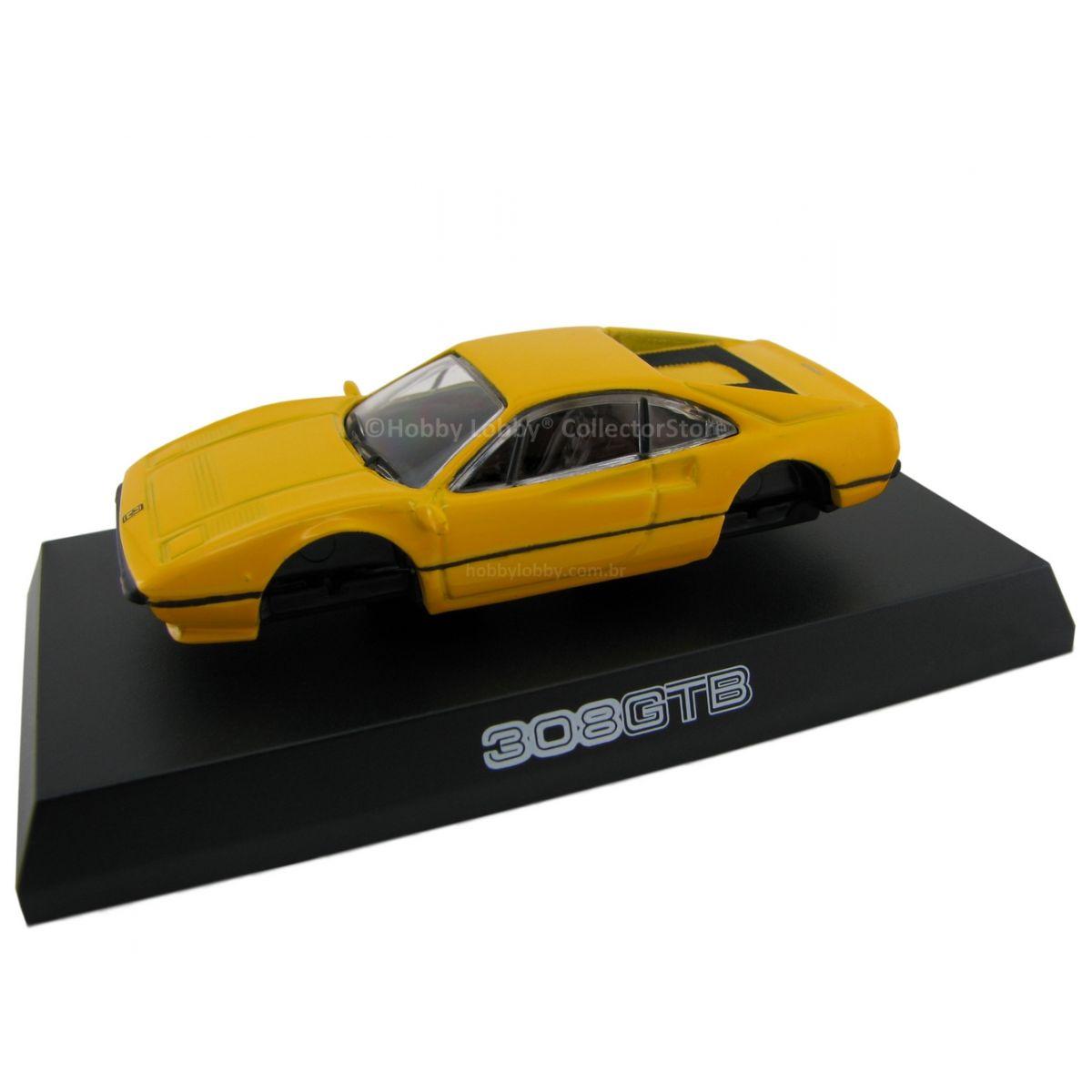 Kyosho - Ferrari Minicar Collection II - Ferrari 308 GTB (amarela)  - Hobby Lobby CollectorStore