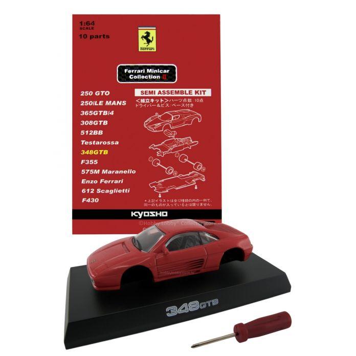 Kyosho - Ferrari Minicar Collection II - Ferrari 348 GTB (vermelha)  - Hobby Lobby CollectorStore