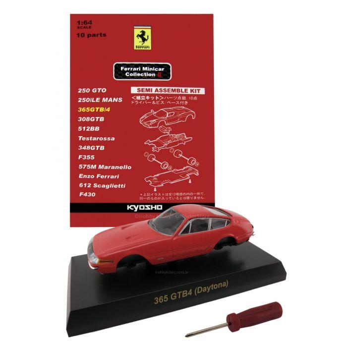 Kyosho - Ferrari Minicar Collection II - Ferrari 365GTB/4 Daytona (Vermelha)