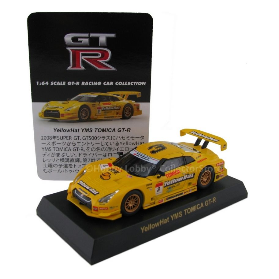 Kyosho - GT-R Racing Car - YellowHAT YMS Tomica GT-R  - Hobby Lobby CollectorStore