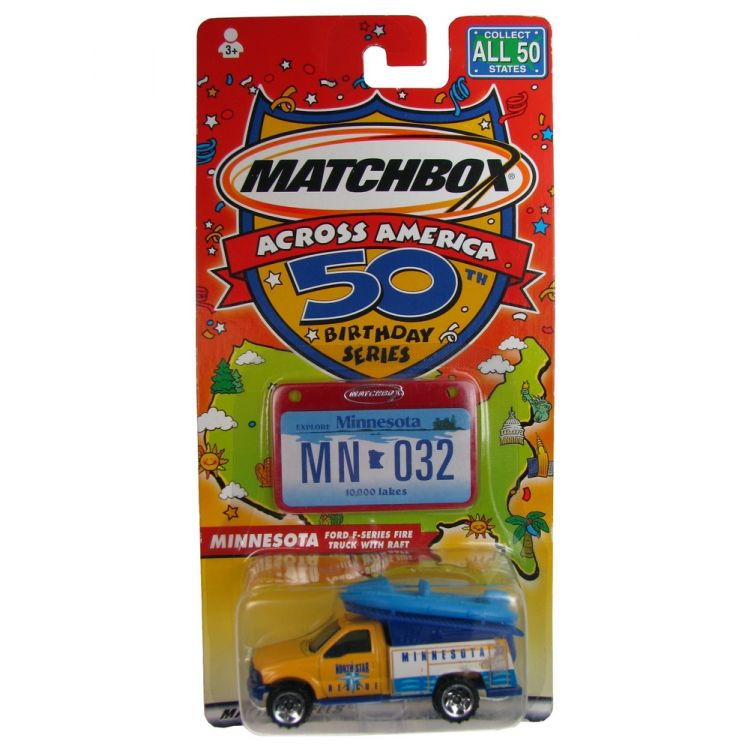 Matchbox - Across America - Minnesota Ford F-Series Fire Truck with Raft