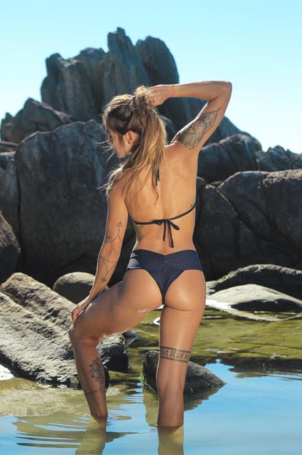 SUT CORTININHA CORRENTE | CALCINHA CÓS FRANZIDO FRENTE  - Cila Beachwear