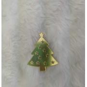 Aplique Árvore de Natal em Acrílico Espelhado - 7cm  (5 unidades)