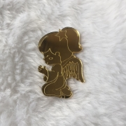 Aplique em acrílico espelhado - Anjo Menina 4 - 7cm (5 unidades)