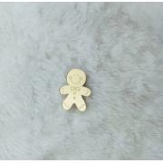 Aplique em acrílico espelhado - Biscoito de gengibre - 7cm (5 unidades) - Natal