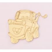 Aplique em acrílico espelhado - Carros 03 - 5cm (5 unidades)
