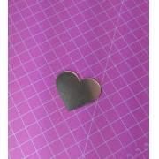 Aplique em acrílico espelhado - Coração simples - 5cm (5 unidades)