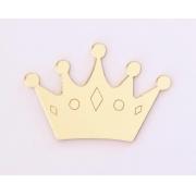 Aplique em acrílico espelhado - Coroa 03 - 5cm (5 unidades)