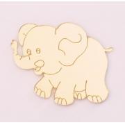 Aplique em acrílico espelhado - Elefante - 5cm (5 unidades)