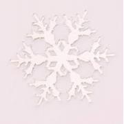 Aplique em acrílico espelhado - Floco de Neve 01 - 5cm (5 unidades) - Natal
