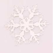 Aplique em acrílico espelhado - Floco de Neve 01 - 7cm (5 unidades) - Natal