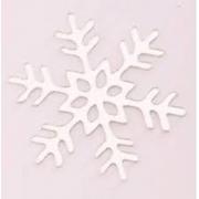 Aplique em acrílico espelhado - Floco de Neve 02 - 5cm (5 unidades) - Natal