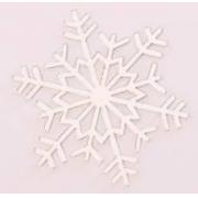Aplique em acrílico espelhado - Floco de Neve 03 - 5cm (5 unidades) - Natal