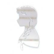 Aplique em acrílico espelhado - Frozen - Anna - 6cm (5 unidades)
