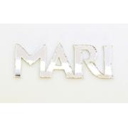 Aplique em acrílico espelhado - Frozen Nome Personalizado - 5cm (5 unidades)