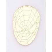 Aplique em acrílico espelhado - Homem Aranha Rosto - 5cm (5 unidades)