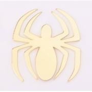Aplique em acrílico espelhado - Homem Aranha Símbolo - 5cm (5 unidades)