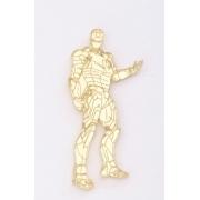 Aplique em acrílico espelhado - Homem de Ferro - 7cm (5 unidades)