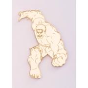 Aplique em acrílico espelhado - Hulk - 5cm (5 unidades)
