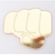 Aplique em acrílico espelhado - Hulk Mão - 5cm (5 unidades)
