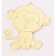 Aplique em acrílico espelhado - Macaco - 5cm (5 unidades)