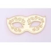 Aplique em acrílico espelhado - Máscara de Carnaval - 5cm (5 unidades)