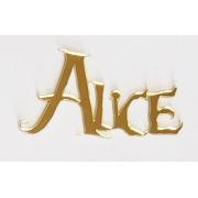 Aplique em acrílico espelhado - Nome Alice (5 unidades) - Alice