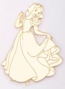 Aplique em acrílico espelhado - Princesa Branca de Neve - 7cm (5 unidades)