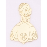 Aplique em acrílico espelhado - Princesa Sophia - 5cm (5 unidades)