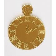 Aplique em acrílico espelhado - Relógio - 5cm (5 unidades) - Alice