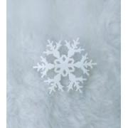 Aplique em acrílico fosco - Floco de Neve 02 - 5cm (5 unidades) - Natal