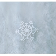 Aplique em acrílico fosco - Floco de Neve 03 - 5cm (5 unidades) - Natal