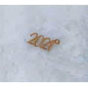 Aplique em MDF para chaveiro - 2021 - 5cm (5 unidades) - Natal