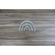 Arco -íris decorado 01 - Chipboard - Kit com 6 peças - Design by Megui