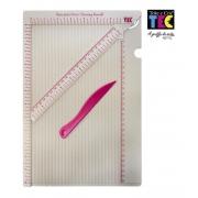 Base para vinco (Scoring Board) 30,5x20cm - Tok e Crie