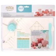 Base Punch Board com Furador e Vinco para Criação de Caixas de Presente We R