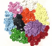 Botão de Plástico - 12mm - 10 Pares - Lanmax