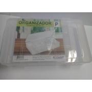 Caixa Organizador Plastico P com 9 Divisorias 21 x 14,8 x 4 cm