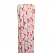 Canudo de papel Flamingo Rosa c/ 20 unidades