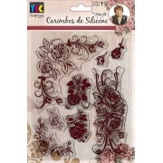 Carimbo de Silicone 14x18cm - Rosas - By Mamiko - Toke e Crie