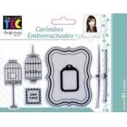 Carimbo Emborrachado 10x15cm - Gaiolas - By Ivana Madi - Toke e Crie