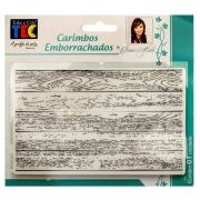 Carimbo Emborrachado 10x15cm - Madeira - By Ivana Madi - Toke e Crie