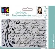 Carimbo Emborrachado 10x15cm - Manuscrito - By Ivana Madi - Toke e Crie